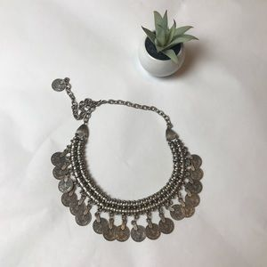 Coin Festival Boho Statement Necklace